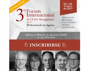 23-8-2017 3° Forum Internacional de LEAN Management